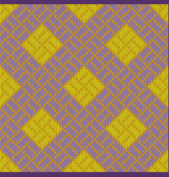 Golden craquelure seamless woolen knitted pattern vector