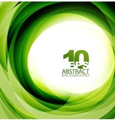 green swirl background vector image