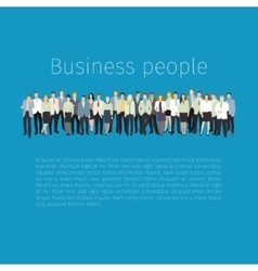 Group of people standing in a row vector image