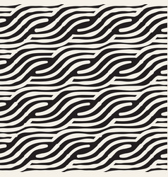 Hand drawn striped seamless pattern with vector