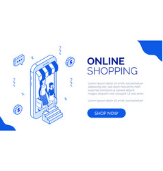 isometric online shopping 4 vector image