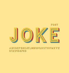 joke font alphabet vector image