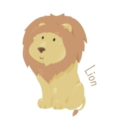 Lion isolated Child fun pattern icon vector image vector image