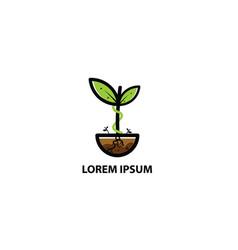 logo plant vector image