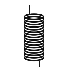Metal spring icon simple style vector image