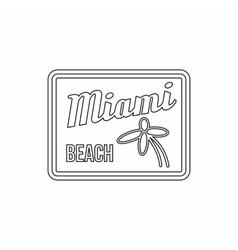 Miami beach icon outline style vector