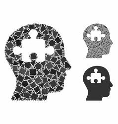 Mind composition icon raggy items vector