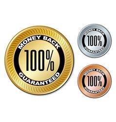 Money back guaranteed labels vector
