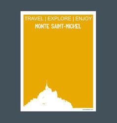 Monte saint- michel france monument landmark vector