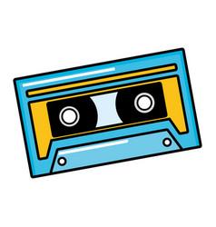 Musical retro cassette vector