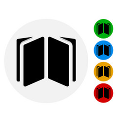 Open book open booklet icon open book symbol on vector