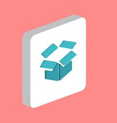 Open box computer symbol vector