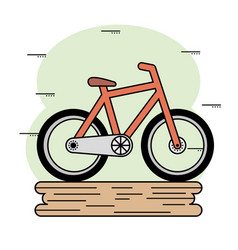 orange bike icon vector image