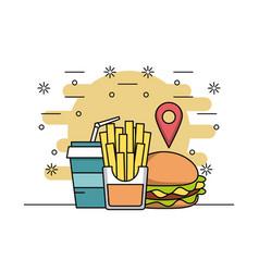 Order food restaurant vector