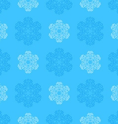 outline snowflakes seamless pattern vector image