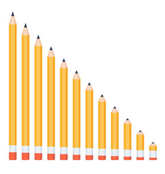 pencils of different lengths linear vector image