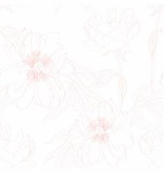 peony flowers seamless pattern vector image