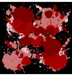 red ink spots vector image