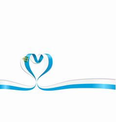 san marino flag heart-shaped ribbon vector image