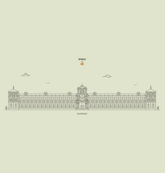 san telmo palace in seville spain vector image