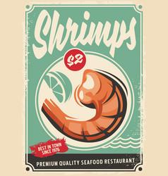 Seafood restaurant poster design vector