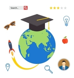 Set icons for education online professional in vector