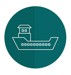 Ship boat cargo icon vector