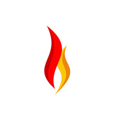 simple hot fire flame logo symbol icon vector image
