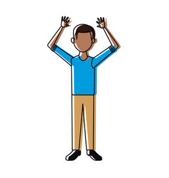 smiling man in casual clothes standing vector image
