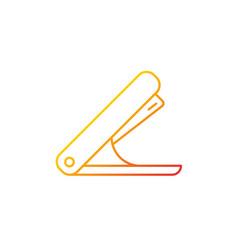 Stapler gradient linear icon vector
