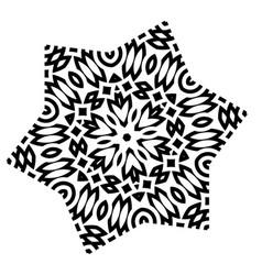 stylized star mandala vector image