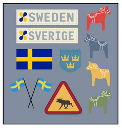 Swedish items vector