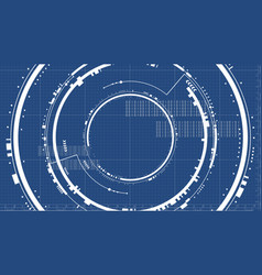 Technological future interface hud technical vector