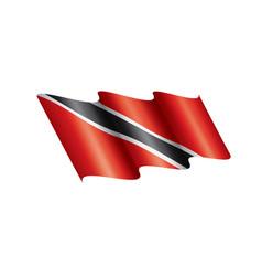 Trinidad and tobago flag on a vector