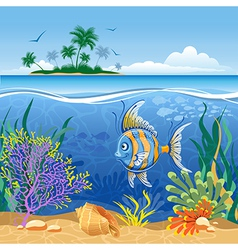 Tropical landscape vector