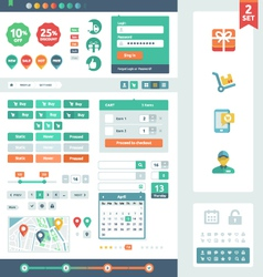 UI elements for web and mobile vector image