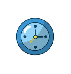 wall clock to know hours time vector image