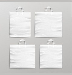 White empty reusable plastic shopping realistic vector