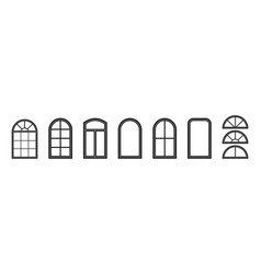 window frame silhouette window outline icon of vector image