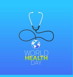 World health day logo icon design vector