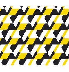 Yellow and balck geometric seamless pattern vector