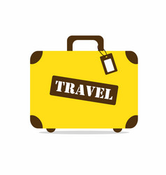 Yellow travel bag vector
