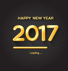 2017 loading progress bar-Happy New Year concept vector image vector image