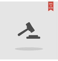 auction web icon design vector image