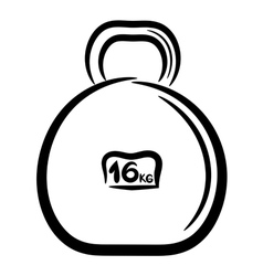 Cartoon metal weight for sports eps10 vector image