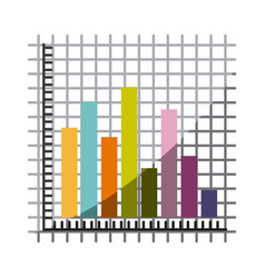 colorful silhouette with statistic graphic bars vector image vector image