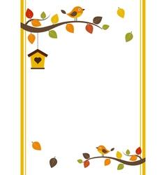 Fall Invitation Card vector image