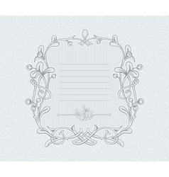 Mistletoe Decorative Frame vector image