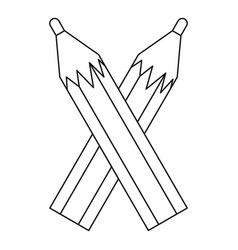 pencils icon outline style vector image