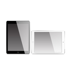 Realistic tablet with blank screen vector image